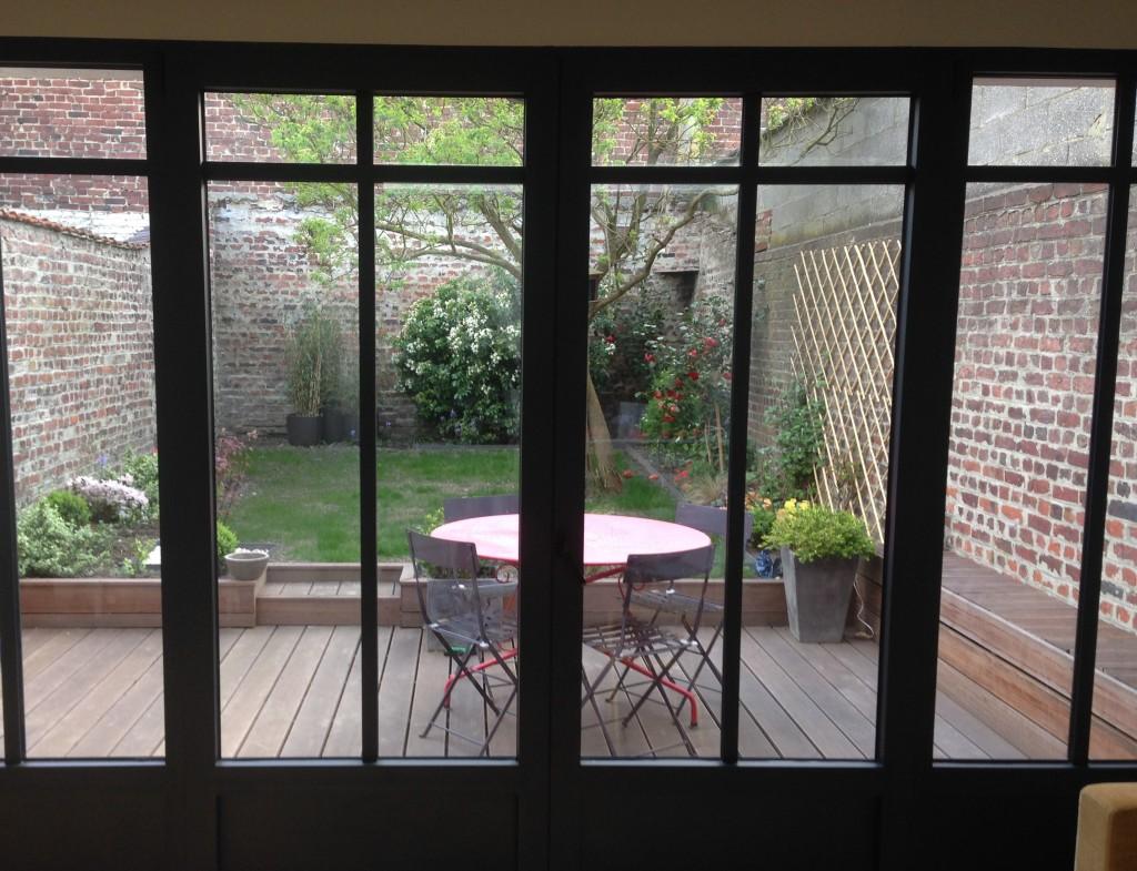 aménagement jardin et terrasse à La Madeleine 6 mois plus tard