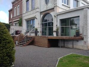 conception et création d'une terrasse en bois à Villeneuve d'Ascq (1)