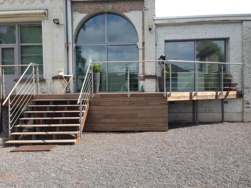 conception et création d'une terrasse en bois à Villeneuve d'Ascq (3)
