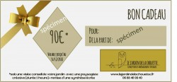 specimen chèque cadeau Le jardin de la Chouette