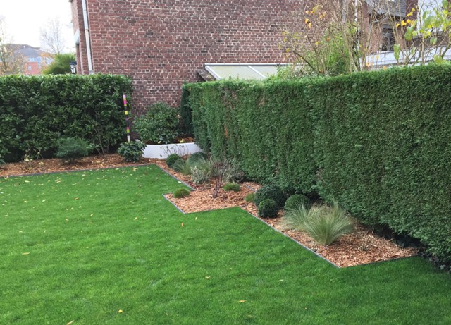 bordures ecolat pour délimiter massifs droits jardin moderne marcq en baroeul