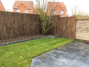 Aménagement terrasse pierre bleue et bordures Lille