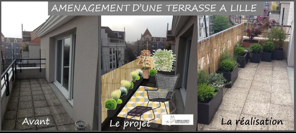 Aménagement terrasse Lille Centre