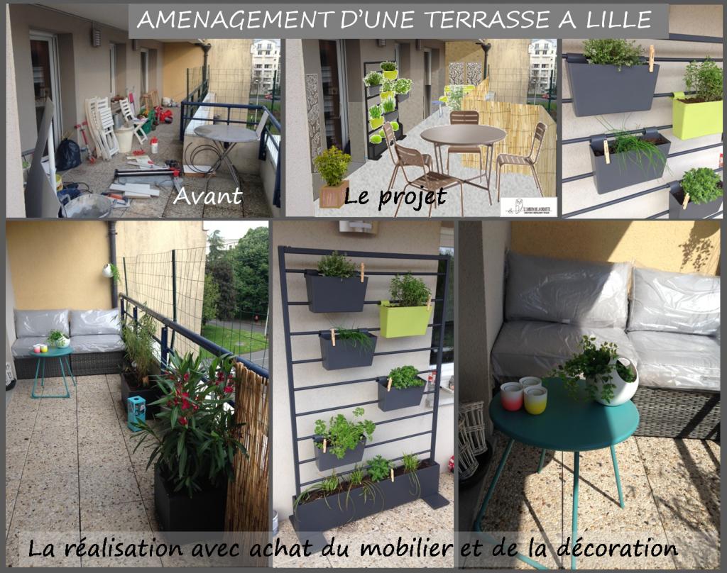 Aménagement terrasse Lille