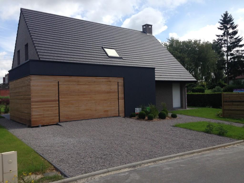 Création d'un accès parking en gravier près de Lille