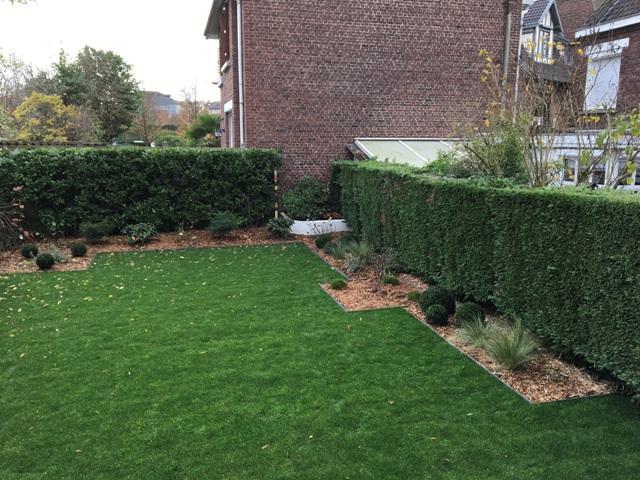 massifs bordures droites pourtour jardin moderne marcq en baroeul