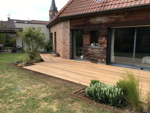 création de terrasse bois à Villeneuve d'ascq (1)